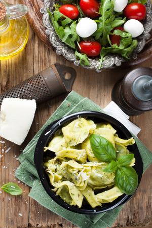 tortellini: Dish of savory Italian tortellini