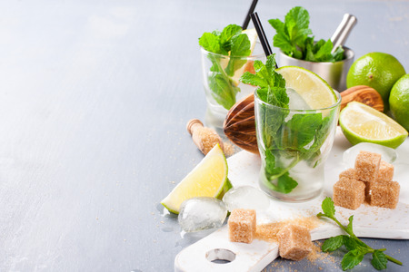 boozer: Ingredients for making mojitos.