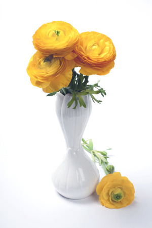 persian buttercup: Persian buttercup bouquet of yellow flowers