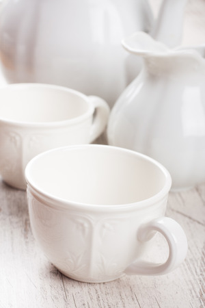 for tea: White crockery for tea