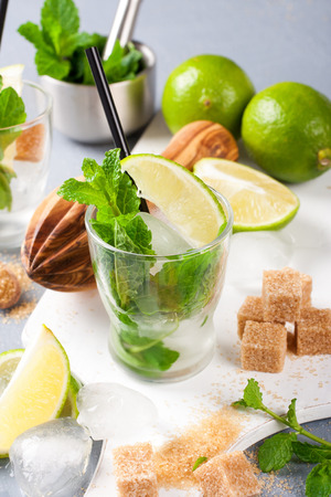 mohito: Ingredients for making mojitos.