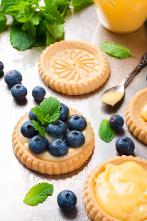 tartlet: Process of making shortbread tartlet