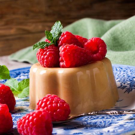 panna cotta: Italian dessert coffee panna cotta Stock Photo