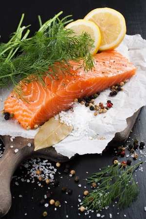 omega 3: Delicious salmon fillet, rich in omega 3 oil