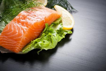 diet dinner: Delicious salmon fillet, rich in omega 3 oil