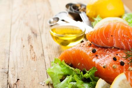 Delicioso filete de salm�n, rico en �cidos grasos omega 3 de aceite