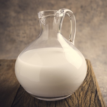 germ free: Fresh rice milk in glass pitcher. Helthy, lactose intolerance, diet and vegan concept.