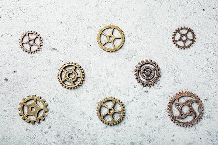 Brass cog wheels, steampunk background
