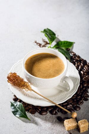 Coffee in white cup Stockfoto