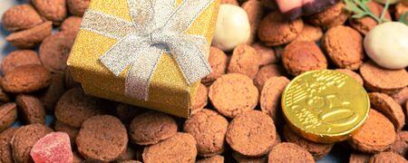 Dutch holiday Sinterklaas background Фото со стока