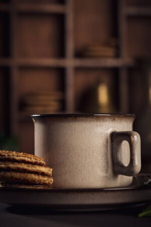 Coffee in brown cup Stockfoto