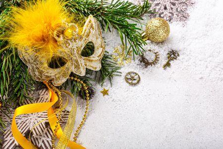 Festive christmas background Foto de archivo - 134473093