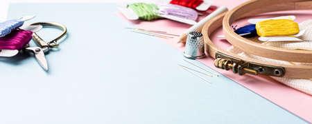 Embroidery set fot cross stitching Standard-Bild