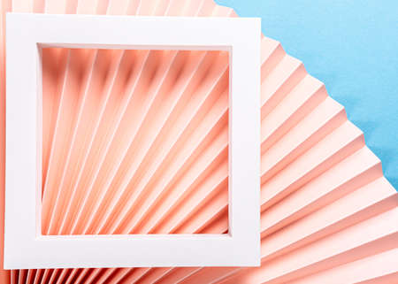 Colorful abstract background with paper fans Archivio Fotografico