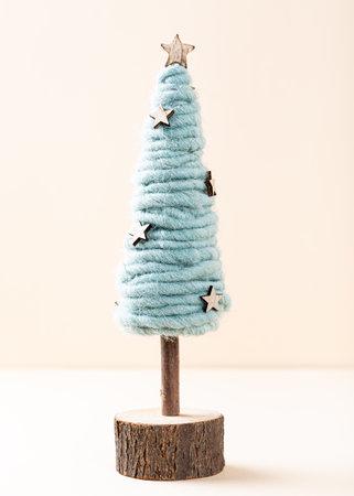 Festive composirion with christmas tree