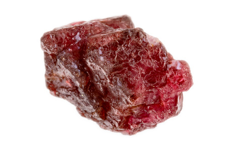 lapidary: Lovely red spinel crystal. Uncut and raw.