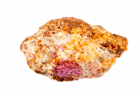 lapidary: Lovely red ruby crystal on host matrix. Uncut and raw.