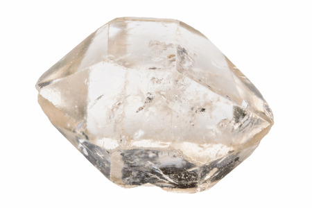二重終端された明確な水晶 写真素材