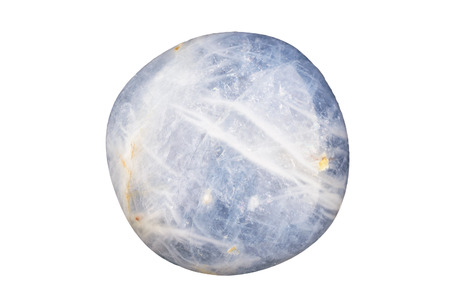 cabochon: Una forma libera blu zaffiro cabochon su bianco