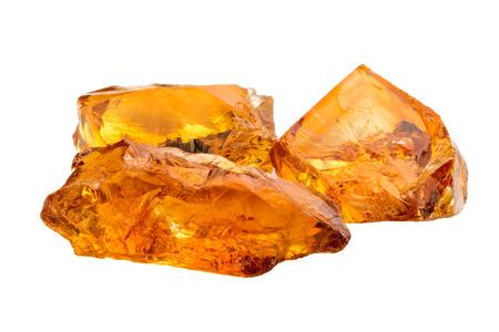Lovely orange Citrine gemstone crystals