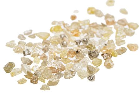 흰색에 원시, 포경 천연 다이아몬드의 더미 스톡 콘텐츠