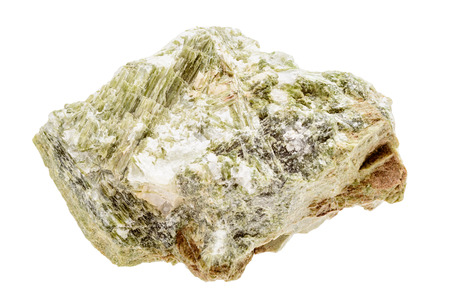gemological: A bright green mineral sample of diopside