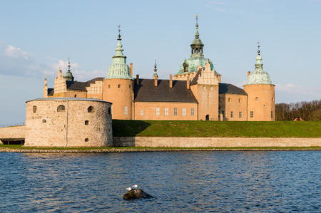 Vista over Kalmar castle in southern Sweden