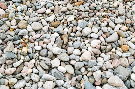 unsustainable: Removal of esker for use as natural resources. Deposits layed down in latest iceage by nature. Naturaly rounded stones and gravel. Stock Photo