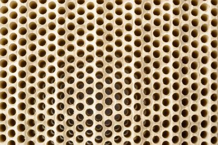 catalytic: Close up of infrared honeycomb ceramic burner plate.