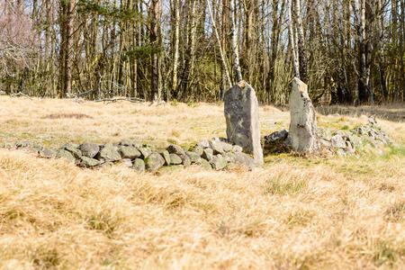 colera: Edad abandon� el c�lera cementerio en Blekinge, Suecia, desde 1853 a 1857 alrededor. Debido al riesgo de contaminaci�n, enterramientos no estaban permitidos en cementerios ordinarios. Foto de archivo