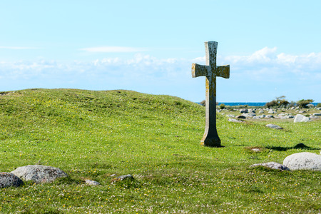 oland: The remnants of St Johns chapel on Oland, Sweden. St Johannes in Swedish.