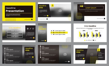 Yellow and white presentation template. Infographic template vector. Can use for presentation slide layout, leaflet, flyer, brochure, report, marketing, advertising, banner, etc.