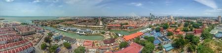panorama view: Vista panoramica di Malacca Archivio Fotografico