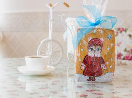 decorated bike: Gingerbread torta gufo nuovo anno