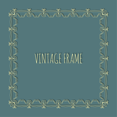 place for text: Stylish vintage frame with place for text