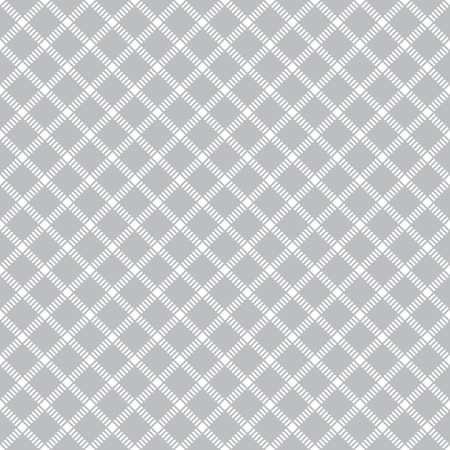 dashed line: Seamless pattern. Vintage geometric texture with repeating rhombuses and squares. Dashed line