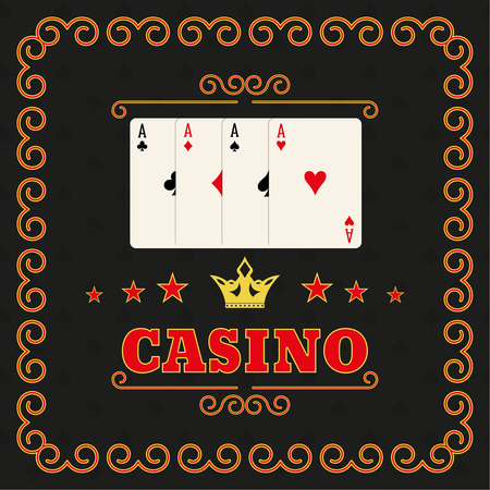 illegally: Casino set on a dark background in a frame
