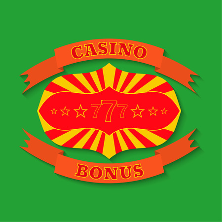 illegally: Casino set on a green background Illustration