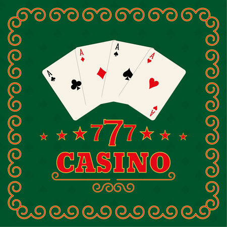 illegally: Casino set on a green background in a frame