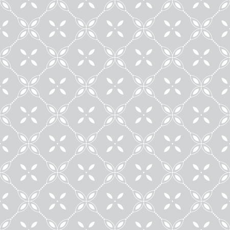 dotted line: Seamless pattern. Classical geometrical texture with flowers and dotted line