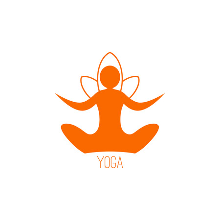 Yoga icon template on a white background Ilustração