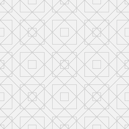 angular: Seamless pattern. Minimalist geometrical texture with thin lines. Repeating triangles, squares, circles, rhombuses, angular shapes. Monochrome. Backdrop. Web. Vector illustration for your design Illustration