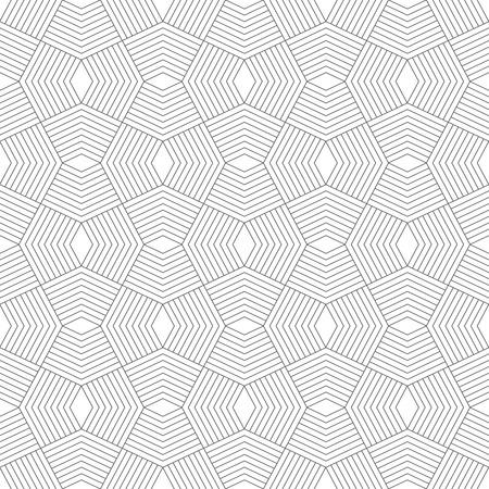 Seamless. Élégant texture géométrique moderne. Répétition de formes polygonales, des lignes, des losanges. Monochrome. Toile de fond. Web. élément de vecteur de conception graphique Banque d'images - 40481938