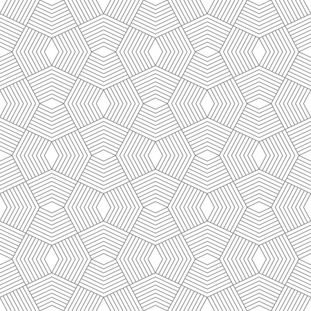 Seamless pattern. Stylish modern geometric texture. Repeating polygonal shapes, lines, rhombuses. Monochrome. Backdrop. Web. Vector element of graphic design Ilustração