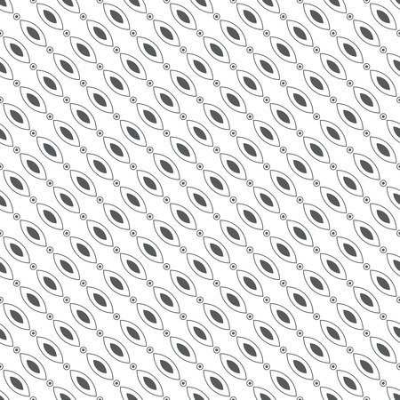 ellipses: Seamless pattern. Classical diagonal texture. Repeating geometrical shapes. Ovals, ellipses, circles, dots. Monochrome. Backdrop. Web. Vector illustration for your design