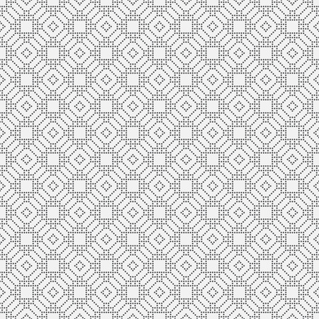 regularly: Seamless pattern. Vintage stylish texture. Regularly repeating geometrical elements, shapes, dots, rhombuses, squares. Dotted mosaic. Retro style. Backdrop. Web. Vector element of graphic design Illustration
