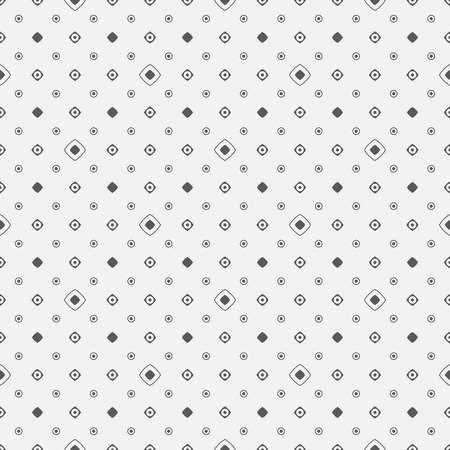 Seamless pattern. Classic texture. Regularly repeating geometrical elements, shapes, dots, rhombuses, circles. Monochrome. Backdrop. Web. Vector element of graphic design Ilustração