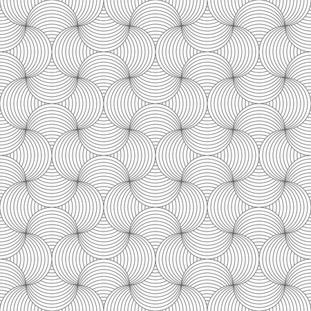 Seamless Pattern Modern Stylish Geometric Tile Texture With The Repeating Scales Semicircles