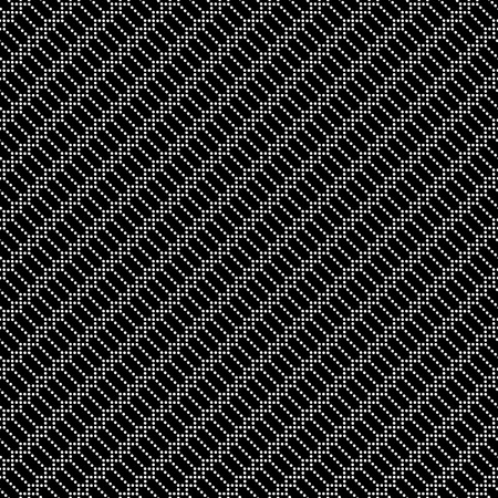 regularly: Seamless pattern. Stylish black and white diagonal texture. Regularly repeating geometrical elements, shapes, dots, dotted lines, rhombuses, squares.