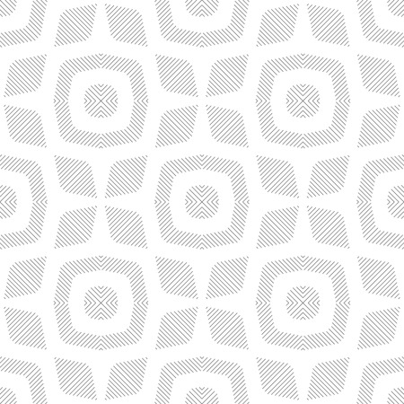 regularly: Seamless pattern. Stylish linear texture. Regularly repeating geometrical elements, shapes, lines, rhombuses, linear flowers, stars.